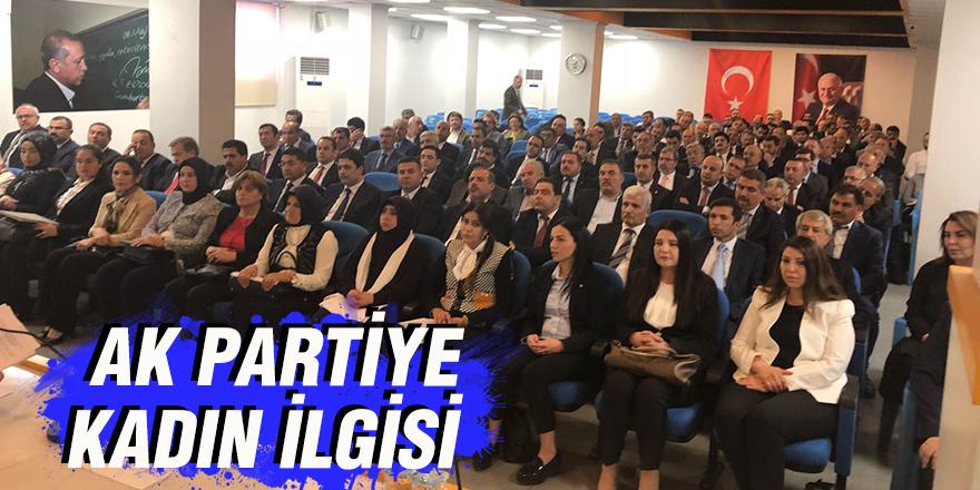 AK Partiye kadın ilgisi