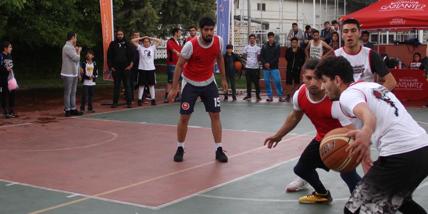 Gaziantep'te sokak basketboluna büyük ilgi