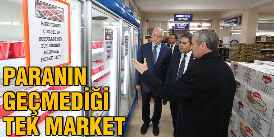 Paranın geçmediği tek market