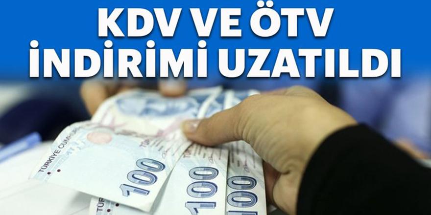 KDV ve ÖTV indirimleri için süre uzatıldı!