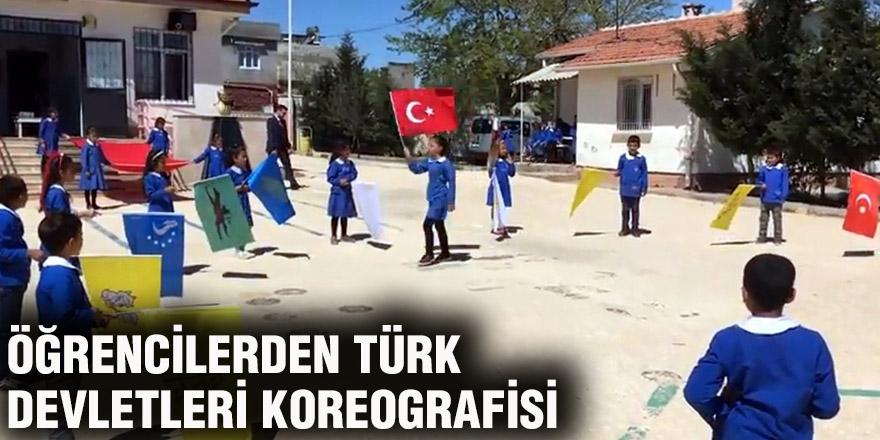 Öğrencilerden Türk devletleri koreografisi
