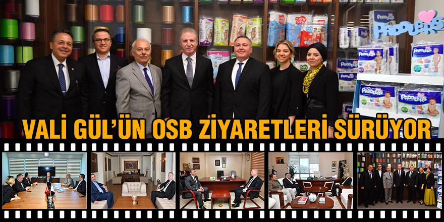 Vali Gül'ün OSB ziyaretleri sürüyor