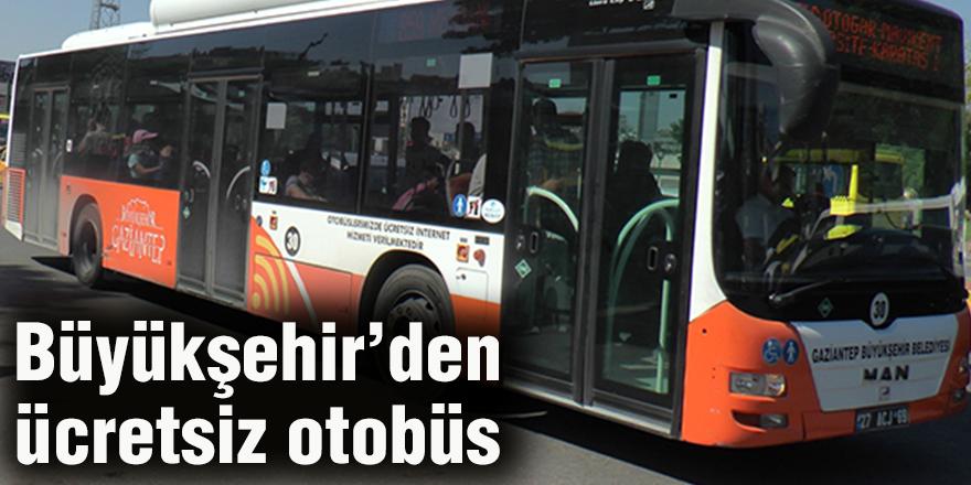 Büyükşehir'den ücretsiz otobüs