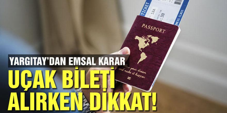 Uçak bileti alırken dikkat