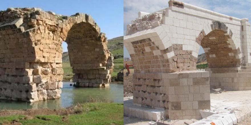 Roma dönemi köprüye Türkiş restorasyon