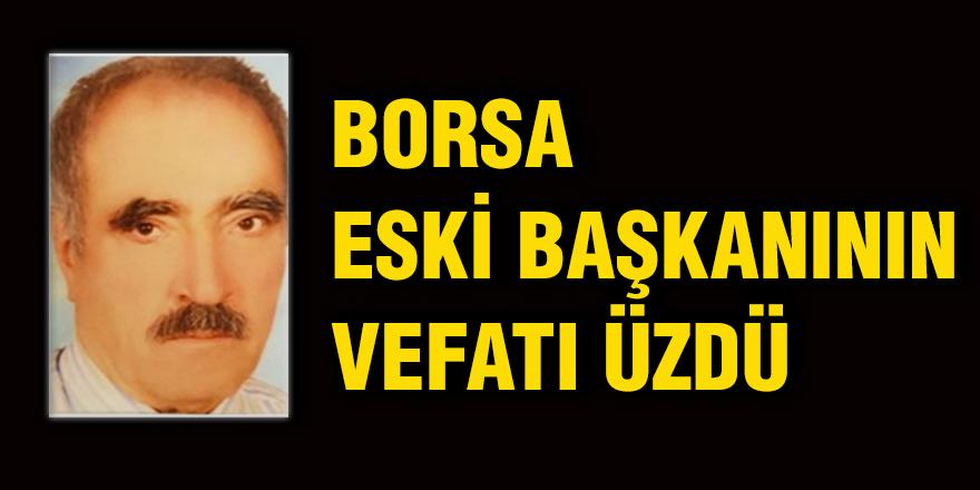 Borsa eski başkanının vefatı üzdü