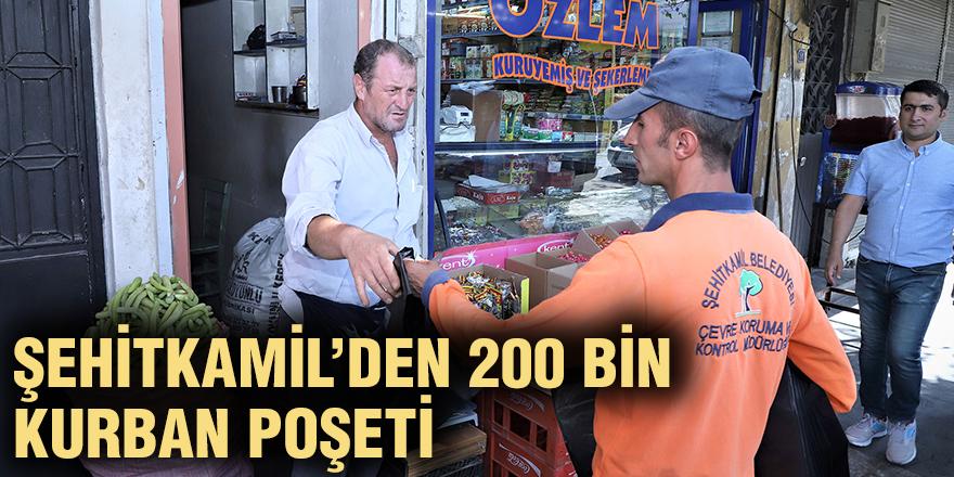 Şehitkamil'den 200 bin kurban poşeti