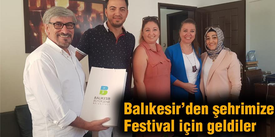 Balıkesir'den şehrimize Festival için geldiler