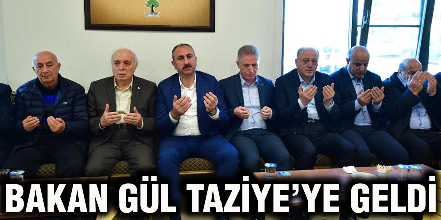 BAKAN GÜL TAZİYE'YE GELDİ