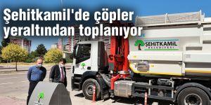 Şehitkamil'de çöpler yeraltından toplanıyor