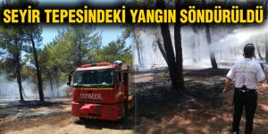 Seyir tepesindeki yangın söndürüldü