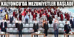 Kalyoncu'da mezuniyetler başladı