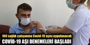 100 sağlık çalışanına Covid-19 aşısı uygulanacak