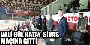 Vali Gül Hatay-Sivas maçına gitti