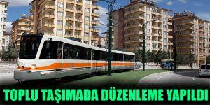 Toplu taşımada düzenleme yapıldı