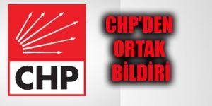 CHP'den ortak bildiri