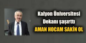 Kalyon Üniversitesi Dekanı şaşırttı