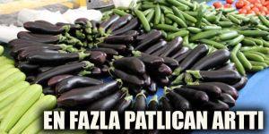 En fazla patlıcan arttı