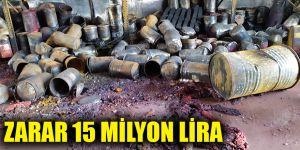 Zarar 15 milyon lira