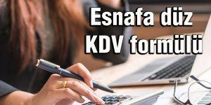 Esnafa düz KDV formülü