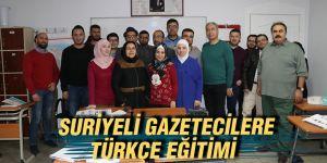 Suriyeli gazetecilere Türkçe eğitimi