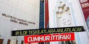 """MHP, 81 ilde teşkilata """"cumhur ittifakını"""" anlatacak"""