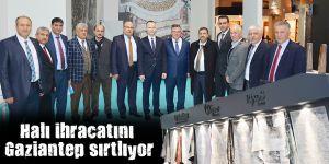 Halı ihracatını Gaziantep sırtlıyor