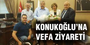 KONUKOĞLU'NA TEŞEKKÜR ETTİ