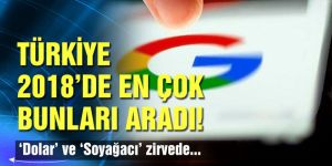 Türkiye 2018'de Google'da 'dolar' ve 'soyağacı' aradı