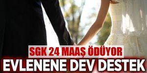 Evlenene 24 maaş
