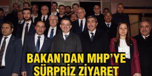 BAKAN'DAN MHP'YE SÜRPRİZ ZİYARET