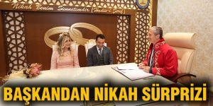 Başkandan nikah şürprizi