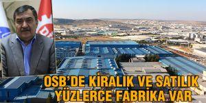 OSB'de Kiralık ve satılık yüzlerce fabrika var