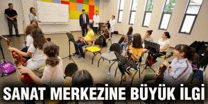 Sanat Merkezine büyük ilgi
