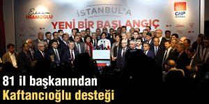 81 il başkanından Kaftancıoğlu desteği