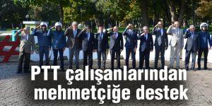 PTT çalışanlarından mehmetçiğe destek