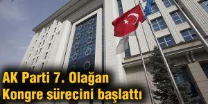AK Parti 7. Olağan Kongre sürecini başlattı