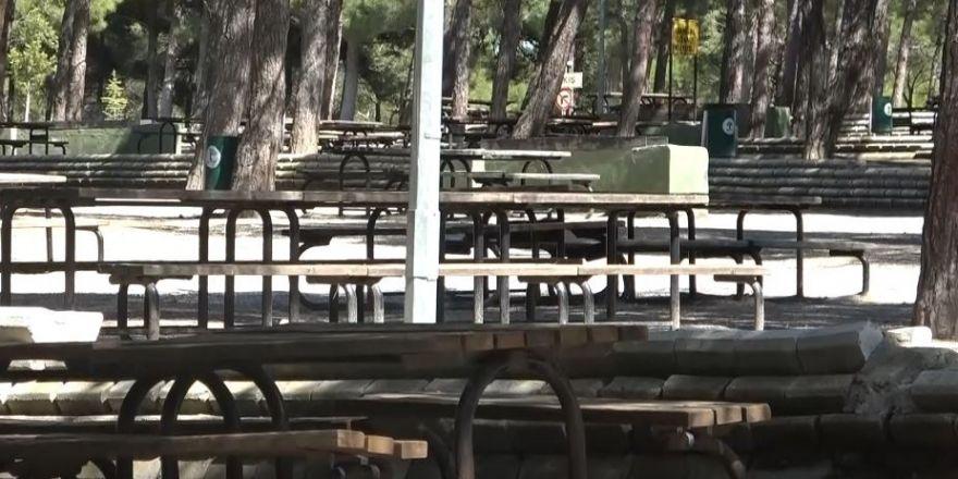 Gaziantep'te mesire alanları boş kaldı
