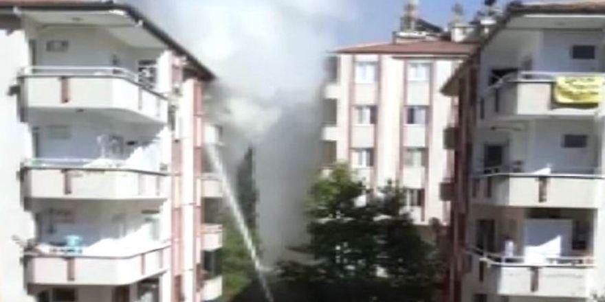 Gaziantep'te 5. Katta çıkan yangın korkuttu