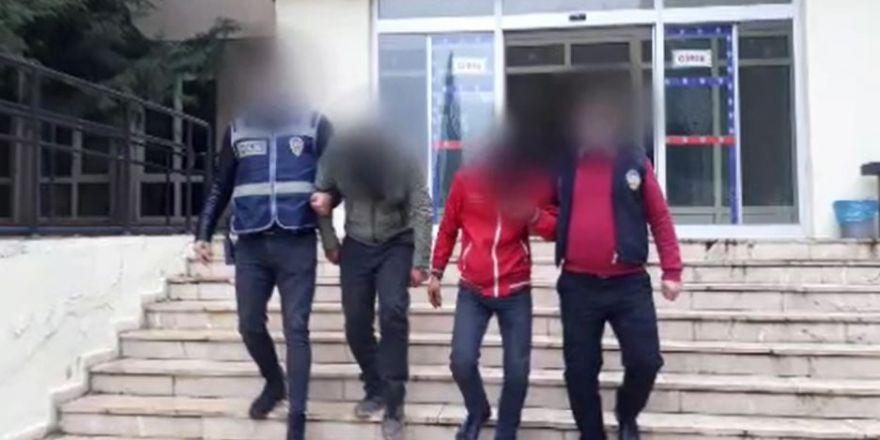 Ev ve iş yerinden hırsızlık yapan 5 şüpheli yakalandı