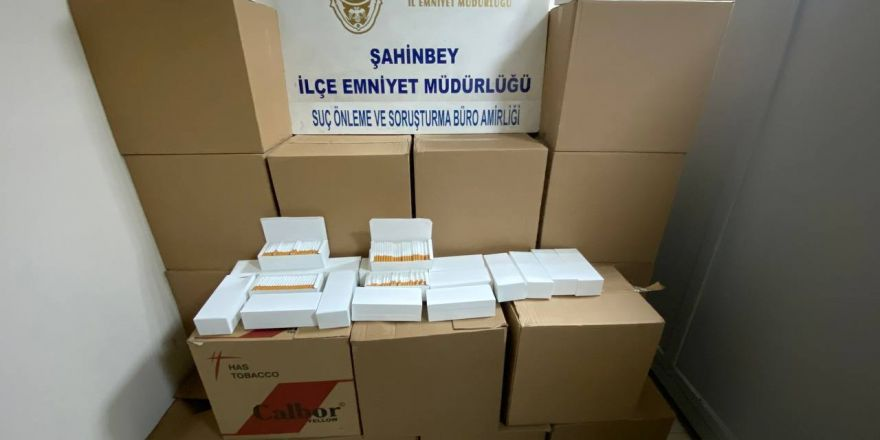 Kaçak tütün mamülleri satışı yapan iş yerine operasyon
