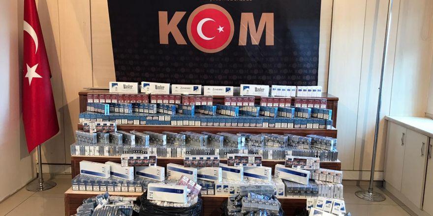 Gaziantep'te 3 bin 400 paket kaçak sigara ele geçirildi