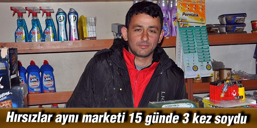 Hırsızlar aynı marketi 15 günde 3 kez soydu