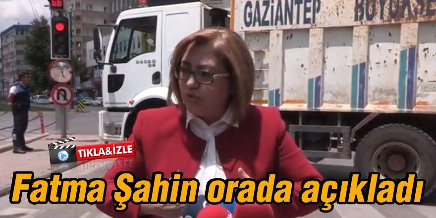 Fatma Şahin orada açıkladı