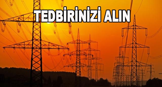 Elektrik kesintisine dikkat !..
