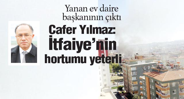 Gaziantep Büyükşehir Belediyesi Daire Başkanı'nın evi yandı