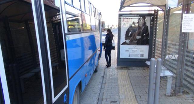 Sarı Şerit Yoluna Otobüs Durağı Yapıldı